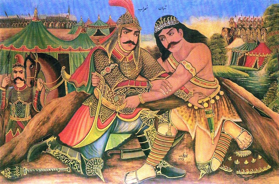 rostam and sohrab The tragedy of rostam and sohrab forms part of the 10th-century persian epic shahnameh by the persian poet ferdowsiit tells the tragic story of the heroes rostam and his son, sohrab.