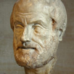 Portrait of Aristoteles. Copy of the Imperial era (1st or 2nd century) of a lost bronze sculpture made by Lysippos