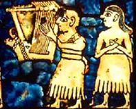 "Hand held Harp - ""Standard of Ur"" - 3rd Millennium BC"