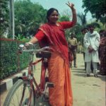 17 April 1996 - Phoolan Devi at Election Campaign in Mirzapur - HT Photo by Girish Srivastava.