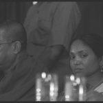 03 August 1995 - Phoolan Devi with VP Singh, Ram Vilas Paswan - HT Photo by Sanjay Sharma.