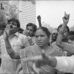 07 April 1995 - Phoolan Devi and Other Clowns - HT Photo by Dinesh Kumar.